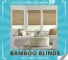 Bamboo blinds promo blinds hurry while stock last only!