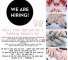 Hiring Manicurist/Beauty Consultant to work in Singapore.
