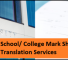 School/ College Mark Sheet Translation Services – Lyric Labs