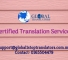 Certified Translations services 1 Oct